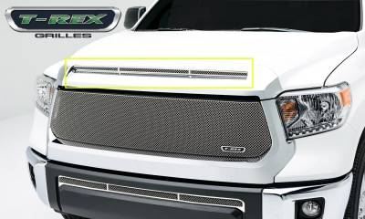 Accessories for Trucks & Cars - T1 Billet Accessories - T-REX Toyota Tundra  T1 Series Grille, Hood, Overlay, 1 Pc, Polished Stainless Steel - Pt # 119640