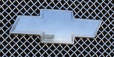 Accessories for Trucks & Cars - T-REX Chevrolet Silverado Billet Bowtie - Front- w/Border - Polished - Pt # 19076