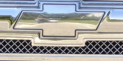 T-REX Grilles - Front Bowtie, Plain, Polished, 1 Pc, Bolt-On - PN #19101
