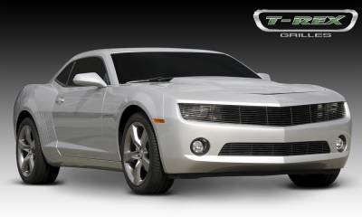 T-REX Grilles - Chevrolet Camaro ALL Phantom Billet Grille - All Black - OE Bowtie can be re-installed Optional - Pt # 20027B