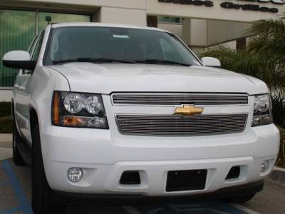 Billet Series Grilles - T-REX Chevrolet Suburban, Tahoe LTZ Billet Grille Insert Easy Install - 2 Pc 6, 11 Bars - Pt # 20051