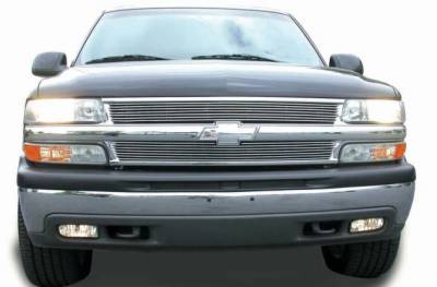 Billet Series Grilles - Chevrolet Silverado Billet Grille Insert 7 Bars - Pt # 20075
