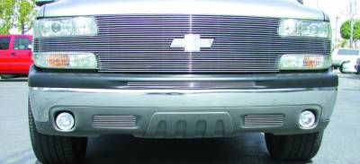 "T-REX Grilles - Chevrolet Suburban/Tahoe, 99-02 Silverado """"Full Face"""" Billet Main Grille with Billet Bowtie Installed (27 Bars) - Pt # 20079"
