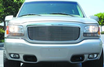 T-REX Grilles - 1999-2000 Escalade Billet Grille, Polished, 1 Pc, Insert, Re-use OE Cadillac Logo - PN #20180