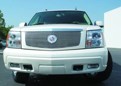 T-REX Grilles - 2002-2006 Escalade Billet Grille, Polished, 1 Pc, Insert, with Center Logo Plate - PN #20182