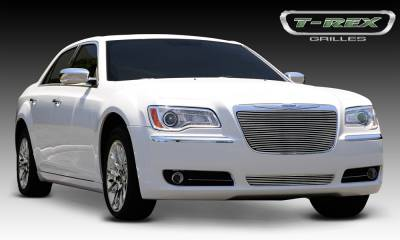 Clearance - T-REX Grilles - Chrysler 300 All Billet Grille Insert - Installs into OE / factory chrome grille surround - Pt # 20433
