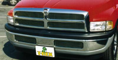 T-REX Grilles - 1994-2001 Dodge Ram Billet Grille, Polished, 4 Pc, Insert - PN #20450