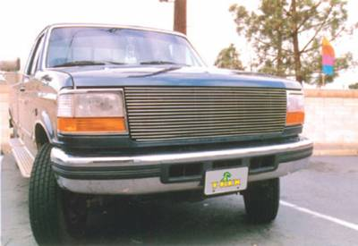 T-REX Grilles - 1992-1998 Ford Bronco, F-150, Super Duty Billet Grille, Polished, 1 Pc, Replacement - PN #20535 - Image 1