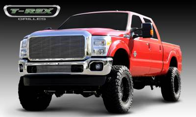 T-REX Grilles - 2011-2016 Super Duty Billet Grille, Polished, 1 Pc, Insert - PN #20546