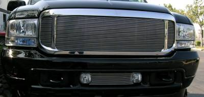 T-REX Grilles - 2000-2004 Ford Excursion, 99-04 Super Duty Billet Grille, Polished, 3 Pc look, Insert - PN #20570