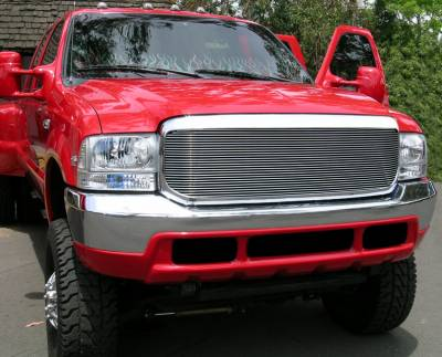 T-REX Grilles - 2000-2004 Ford Excursion, 99-04 Super Duty Billet Grille, Polished, 1 Pc, Insert - PN #20574