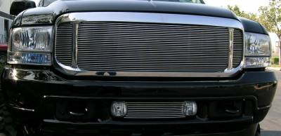 T-REX Grilles - 2000-2004 Ford Excursion Billet Grille, Polished, 3 Pc, Insert - PN #20585