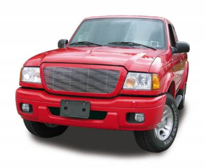 T-REX Grilles - 2004-2005 Ford Ranger Billet Grille, Polished, 1 Pc, Insert - PN #20660