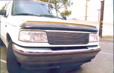 T-REX Grilles - 1993-1997 Ford Ranger Billet Grille, Polished, 1 Pc, Replacement - PN #20675