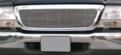 T-REX Grilles - 1998-2000 Ford Ranger Billet Grille, Polished, 1 Pc, Insert - PN #20676