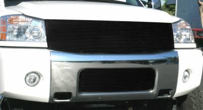 Billet Series Grilles - Nissan Titan Billet Grille Insert - 1 Pc Replaces Grille Shell 22 Bars - All Black - Pt # 20780B