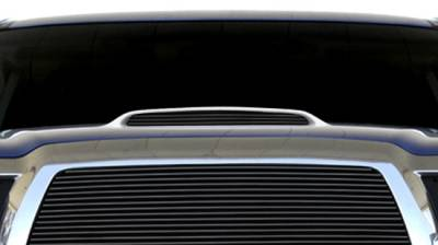 T-REX Grilles - Toyota Tacoma, 06 4Runner Billet Hood Scoop Insert - 1 Pc 4 Bars - All Black - Pt # 20897B