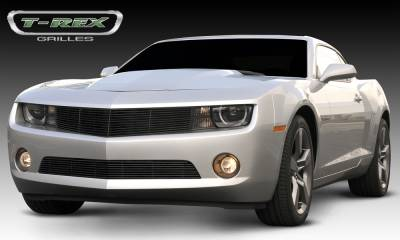 Billet Series Grilles - T-REX Chevrolet Camaro ALL Billet Grille - All Black - OE Bowtie can be re-installed Optional - Pt # 21027B