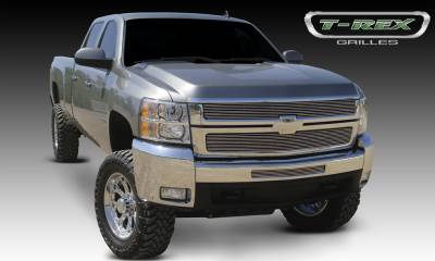 T-REX Grilles - 2007-2010 Silverado HD Billet Grille, Polished, 2 Pc, Overlay - PN #21112
