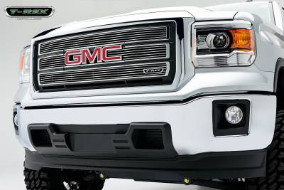 Clearance - T-REX GMC Sierra Billet Grille, Main, Overlay, 4 Pc's, Polished - Pt # 21208