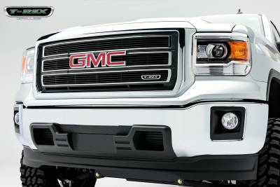 Clearance - T-REX GMC Sierra Billet Grille, Main, Overlay, 4 Pc's, Black - Pt # 21208B