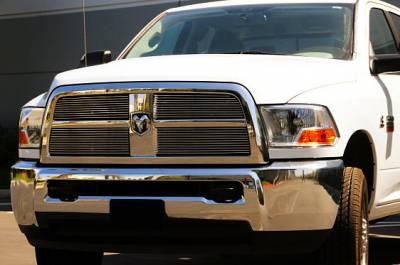 Billet Series Grilles - Dodge Ram PU 2500 / 3500 Billet Grille Overlay and Insert - 4 Pc - Pt # 21451