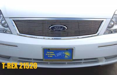 Clearance - T-REX Ford Five Hundred  Billet Grille Overlay/Bolt On - W/ Logo Opening 13 Bars - Pt # 21520