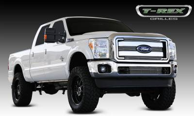 T-REX Grilles - 2011-2016 Super Duty Billet Grille, Polished, 4 Pc, Overlay - PN #21546