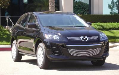 Clearance - Mazda CX7 Billet Grille Overlay/Bolt On - 2 Pc - Pt # 21638