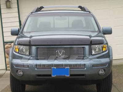 T-REX Grilles - 2006-2008 Honda Ridgeline Billet Grille, Polished, 1 Pc, Replacement - PN #21733