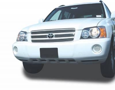 Billet Series Grilles - Toyota Highlander Billet Grille Overlay/Bolt On - 4 Pc 4 Bars Each - Pt # 21916