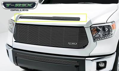 T-REX Grilles - Toyota Tundra  Billet Grille, Hood, Overlay, 1 Pc, Polished Black Powdercoated Aluminum Bars - Pt # 21964