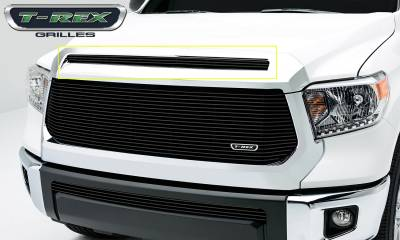 T-REX Grilles - Toyota Tundra  Billet Grille, Hood, Overlay, 1 Pc, Black Powdercoated Aluminum Bars - Pt # 21964B
