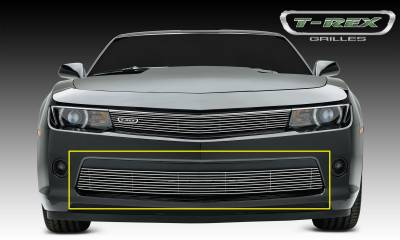 T-REX Grilles - Chevrolet Camaro RS Billet Grille, Bumper, Overlay, 1 Pc, Polished Black Powdercoated Aluminum Bars - Pt # 25031