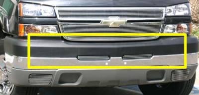 Billet Series Grilles - T-REX Chevrolet Silverado Bumper Billet Grille Top Pad Insert - 2 Pc 3 Bars - Pt # 25103
