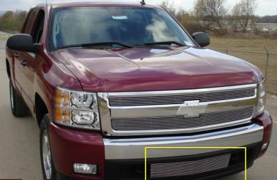T-REX Grilles - Chevrolet Silverado 1500 Bumper Billet Grille Insert Lower Air Dam between tow hooks - Pt # 25110