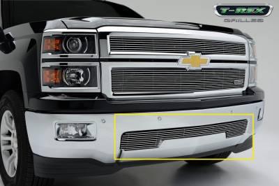 Billet Series Grilles - T-REX Chevrolet Silverado Bumper Billet Grille Overlay/Bolt-on - Pt # 25117