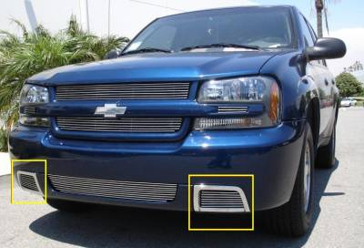Emblems, Logoz and DIY Components - Side Vents and Accessories - Chevrolet Trailblazer SS Bumper Billet Grille Insert - 2 Pc Vents - Pt # 25285