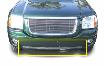 T-REX Grilles - 2002-2009 GMC Envoy Billet Bumper Grille, Polished, 1 Pc, Bolt-On - PN #25386