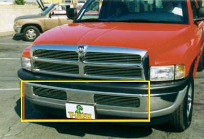 T-REX Grilles - Dodge Ram PU, except 99+ Sport Bumper Billet Grille Insert - 6 Bars -Matching Grille # 20450 - Pt # 25440