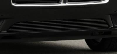 Billet Series Grilles - T-REX Grilles - Dodge Charger Bumper Billet Grille - All Black - Pt # 25442B