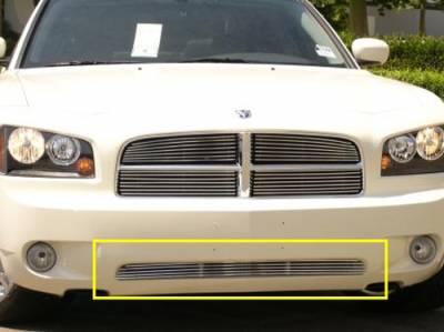 Billet Series Grilles - T-REX Grilles - Dodge Charger Bumper Billet Grille 4 Bars - Pt # 25474