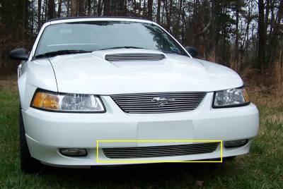 Billet Series Grilles - Ford Mustang Bumper Billet Grille Insert 6 Bars - Pt # 25511