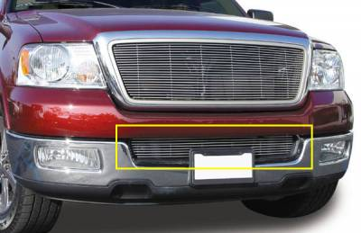 T-REX Grilles - 2004-2005 F-150, 05 Mark LT Billet Bumper Grille, Polished, 1 Pc, Overlay - PN #25552