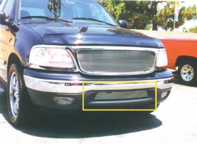 Billet Series Grilles - Ford F150 Bumper Air Dam Billet Grille Insert - New EZ Bolt On 7 Bars - Pt # 25581