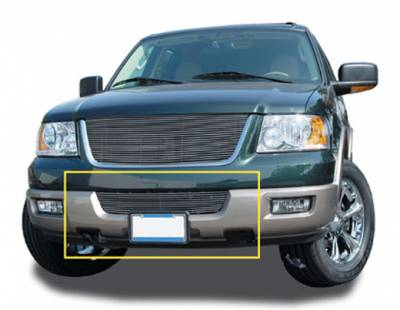 T-REX Grilles - 2003-2006 Expedition Billet Bumper Grille, Polished, 1 Pc, Bolt-On - PN #25592