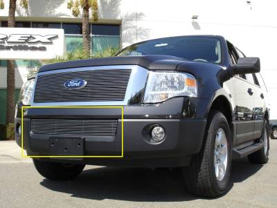 T-REX Grilles - 2007-2014 Expedition Billet Bumper Grille, Polished, 1 Pc, Overlay - PN #25594