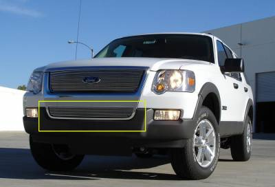 T-REX Grilles - 2006-2010 Explorer XLT, Limited Billet Bumper Grille, Polished, 1 Pc, Overlay - PN #25659