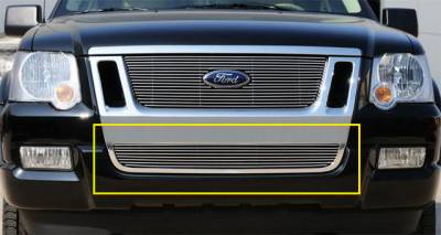 T-REX Grilles - 2006-2010 Explorer Sport Trac, Eddie Bauer Billet Bumper Grille, Polished, 1 Pc, Bolt-On - PN #25662