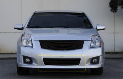 Billet Series Grilles - T-REX Grilles - Nissan Sentra 2.0 SR, SE-R Bumper Billet Grille Insert - All Black - Pt # 25764B